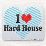 Amo la casa dura tapete de ratones