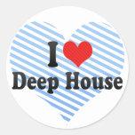 Amo la casa profunda pegatinas redondas