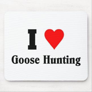 Amo la caza del ganso alfombrillas de ratones