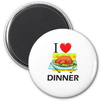 Amo la cena imán redondo 5 cm