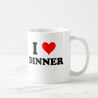 Amo la cena tazas