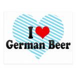Amo la cerveza alemana tarjetas postales