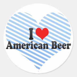 Amo la cerveza americana pegatinas