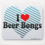 Amo la cerveza Bongs Alfombrillas De Ratones