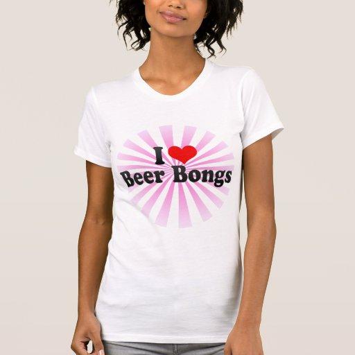 Amo la cerveza Bongs Camisetas