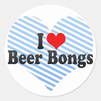 Amo la cerveza Bongs Etiquetas Redondas