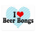 Amo la cerveza Bongs Tarjetas Postales