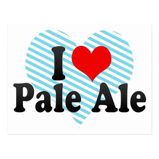 Amo la cerveza clara tarjetas postales
