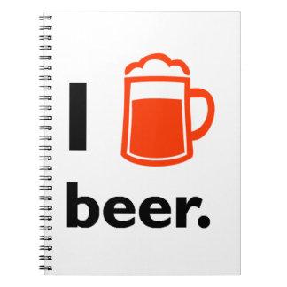 Amo la cerveza libretas