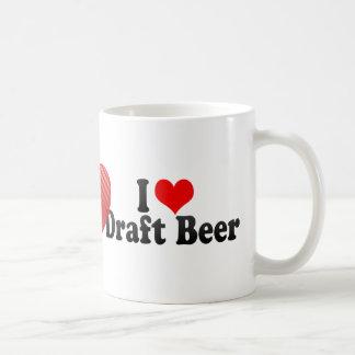 Amo la cerveza de barril taza de café