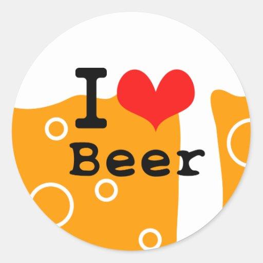Amo la cerveza etiqueta