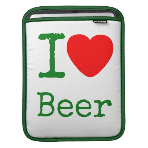 Amo la cerveza funda para iPads