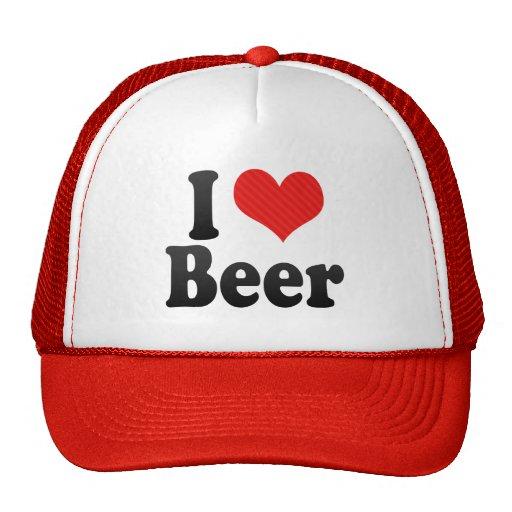 Amo la cerveza gorro de camionero