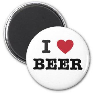 amo la cerveza imán redondo 5 cm