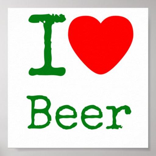 Amo la cerveza impresiones