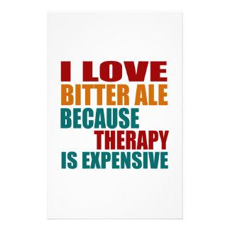 Amo la CERVEZA INGLESA AMARGA porque terapia Papeleria Personalizada