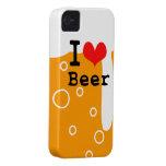 Amo la cerveza iPhone 4 carcasas