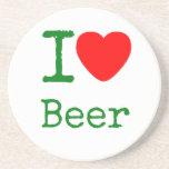 Amo la cerveza posavasos cerveza