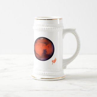 Amo la cerveza Stein de Marte Jarra De Cerveza