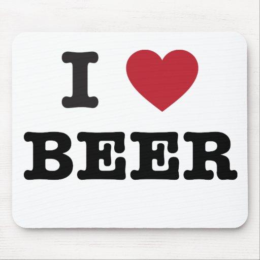 amo la cerveza tapete de ratón