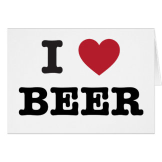 amo la cerveza tarjeta