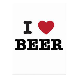 amo la cerveza tarjetas postales