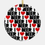 Amo la cerveza - tenga Navidad cervecera Ornamentos De Reyes Magos