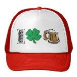 Amo la cerveza verde gorras de camionero