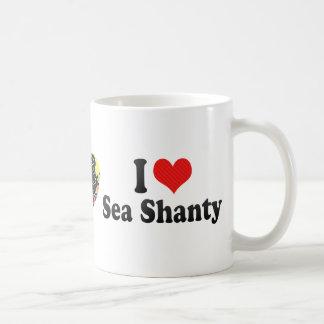 Amo la chabola de mar tazas de café