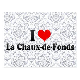 Amo La Chaux-de-Fonds, Suiza Tarjeta Postal