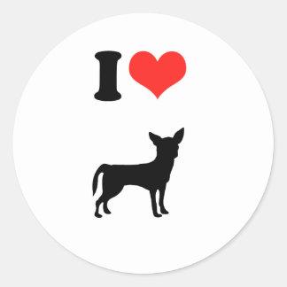 Amo la chihuahua etiqueta