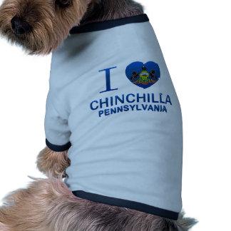Amo la chinchilla PA Camiseta De Mascota