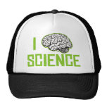 Amo la ciencia (cerebro, el verde) gorras de camionero