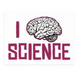 Amo la ciencia (el cerebro) postal