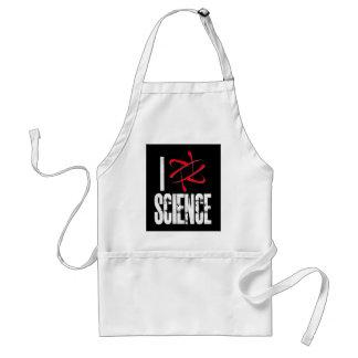 Amo la ciencia (la ciencia del ⚛ de I) Delantal