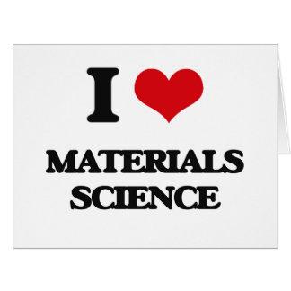 Amo la ciencia material tarjeta de felicitación grande