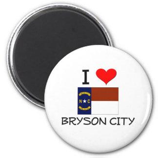 Amo la ciudad Carolina del Norte de Bryson Imán Redondo 5 Cm