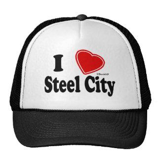 Amo la ciudad de acero gorros bordados