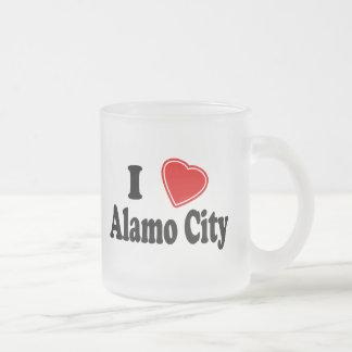Amo la ciudad de Álamo Taza Cristal Mate