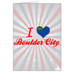 Amo la ciudad de Boulder, Nevada Felicitaciones