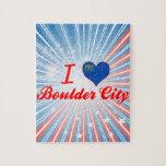 Amo la ciudad de Boulder, Nevada Rompecabezas Con Fotos