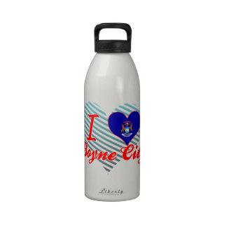 Amo la ciudad de Boyne, Michigan Botellas De Agua Reutilizables