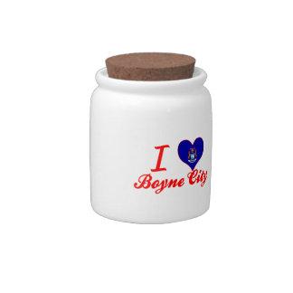 Amo la ciudad de Boyne, Michigan Platos Para Caramelos