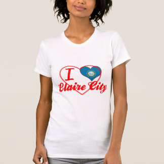 Amo la ciudad de Claire, Dakota del Sur Camisetas
