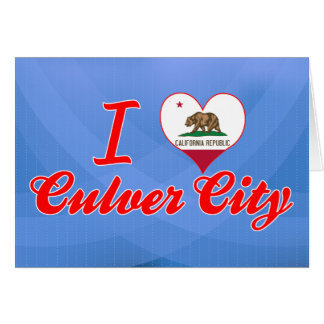 Amo la ciudad de Culver California Tarjeta