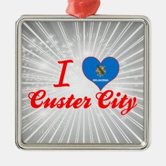 Amo la ciudad de Custer, Oklahoma Ornamentos De Reyes