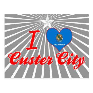 Amo la ciudad de Custer, Oklahoma Postal