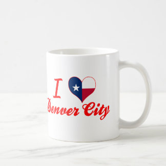 Amo la ciudad de Denver, Tejas Taza Clásica
