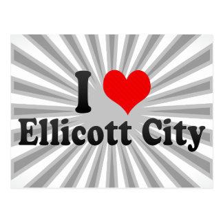 Amo la ciudad de Ellicott, Estados Unidos Postal