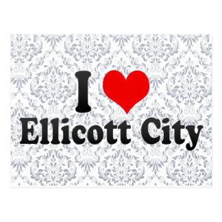 Amo la ciudad de Ellicott, Estados Unidos Tarjeta Postal